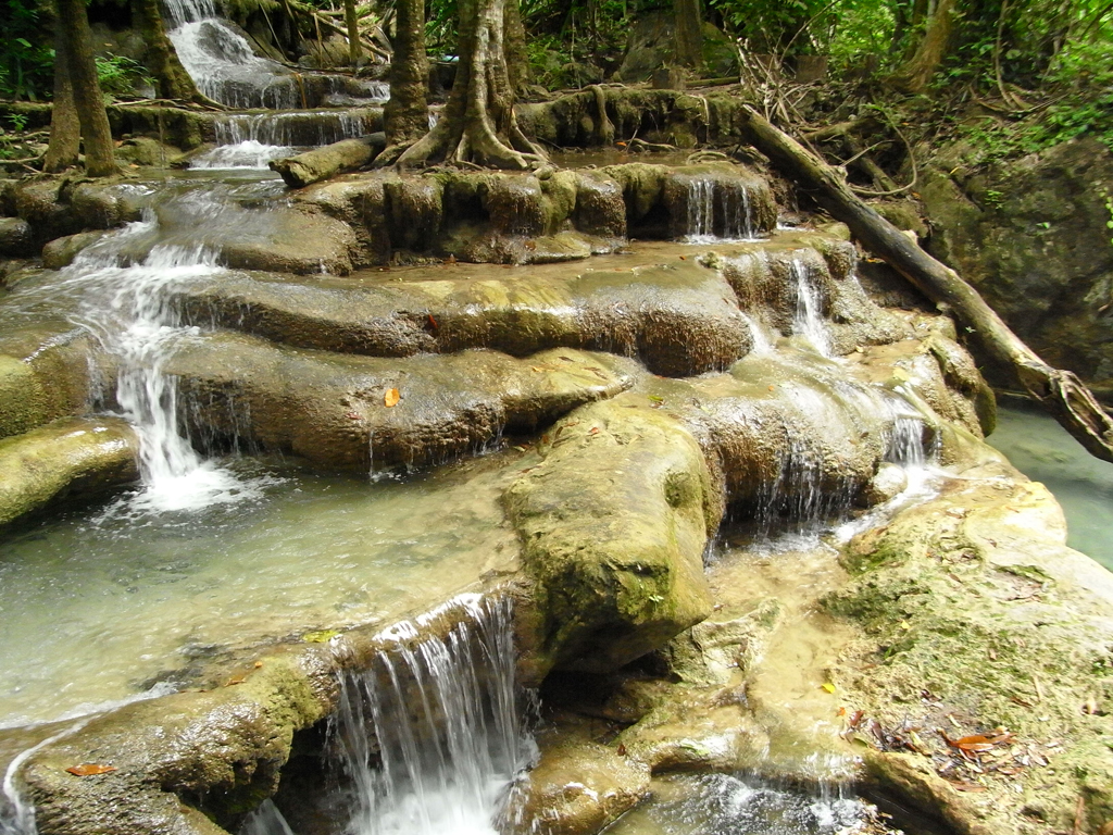 Visit the national Park Erawan during the Songkran Festival