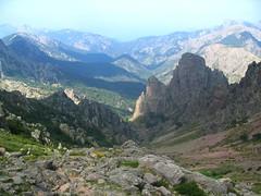La descente depuis Bocca di Guagnerola avec Punta di Cavalalonda