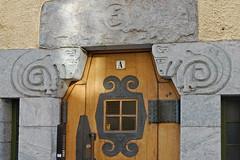 Porte d'entrée d'Immeuble du quartier  Katajanokka (Helsinki)
