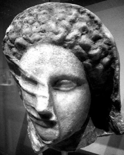 Marble head of a veiled woman