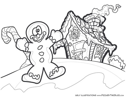 Image Result For Coloring Page Gingerbread