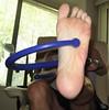 Foot massage using the Backnobber II