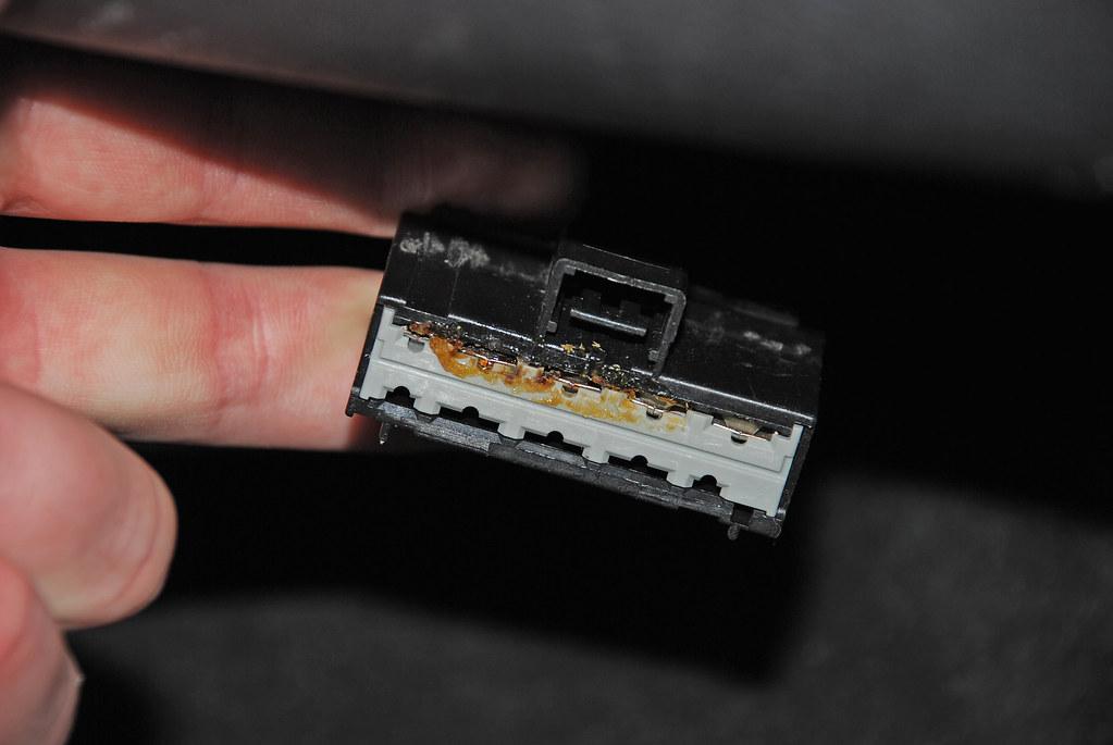 wiring harness glue glue in blower resistor wiring harness damage done courtes    flickr  glue in blower resistor wiring harness