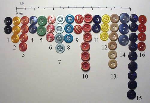 Buttons 8 - tiny plastic ones