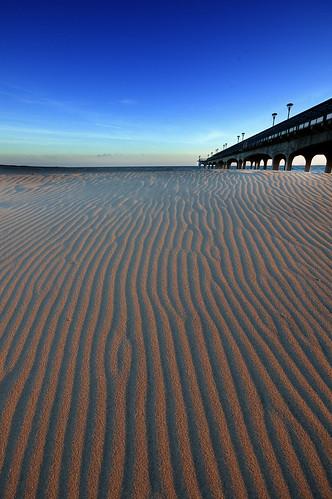uk blue sunset sky orange yellow pier sand nikon sandy dorset gary bournemouth copland boscombe sigma1020mm d40 garycoplandphotography
