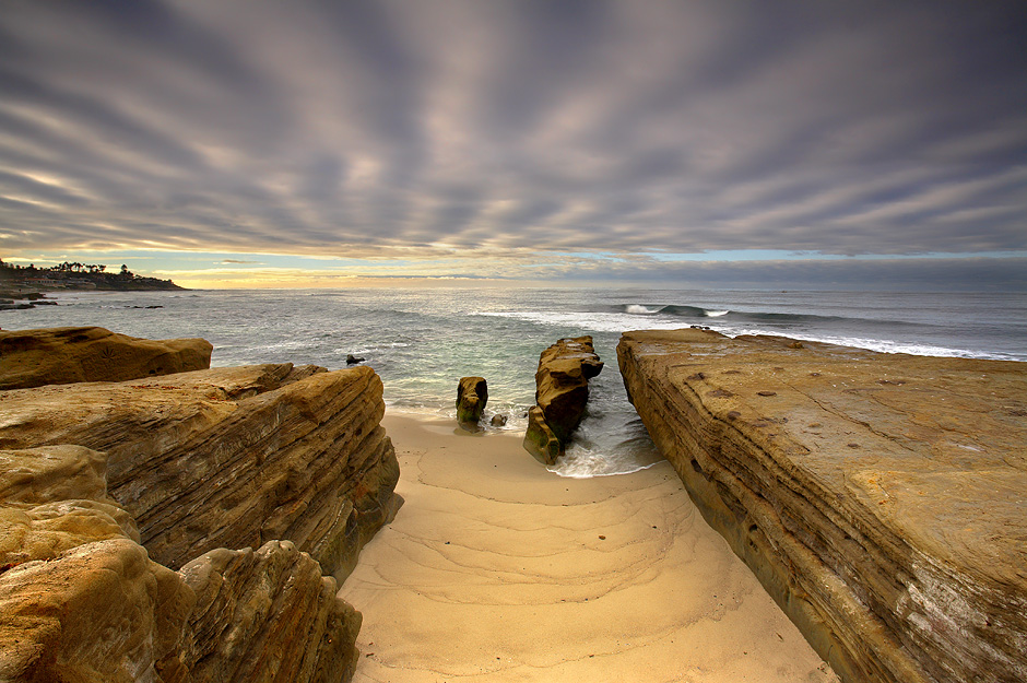 Sandstone and Sky #2 - La Jolla, California