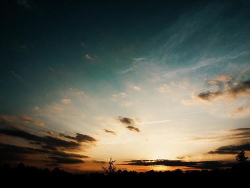 sunset sky cloud vignette fauxlomo sillouhette