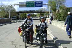Randy and Nancy crossing from Bolivia into Argentina