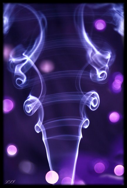 "PURPLE Dazzler - My first ""Smoke Art"" attempt..."