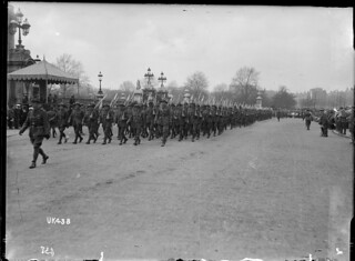 New Zealand Divisional troops in a victory march, London, May 1919