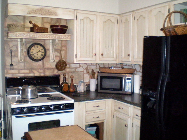 tuscan inspired faux stone backsplash flickr photo sharing