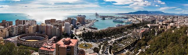 Panorámica de Málaga