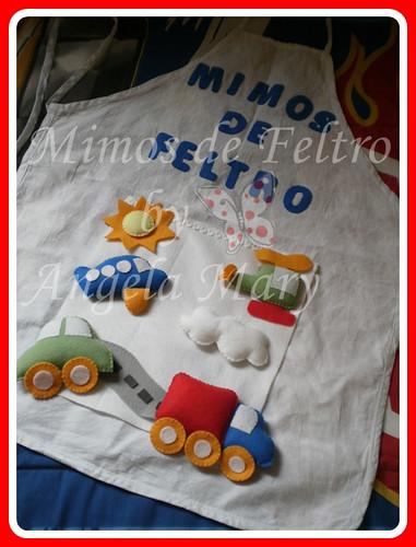 Avental meio de trasporte... by ♥ Mimos de Feltro by Angela Mary® ♥