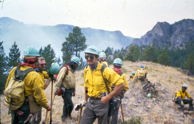 Timber Hill Fire. Helena BLM District. Montana. August 1984.