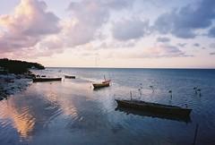 Beach sunset in Jamaica
