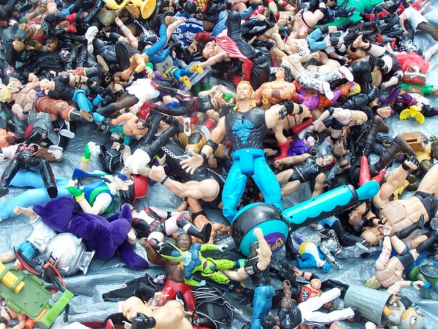 pile of wrestlers from Flickr via Wylio