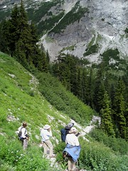 Our hiking group, base of Larch Knob
