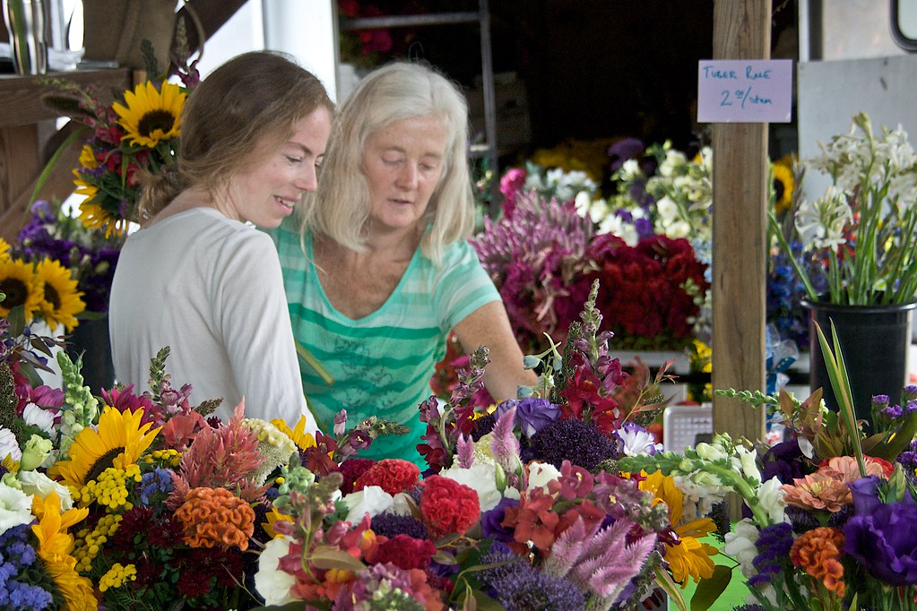 Flowers at Ithaca Farmers Market