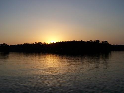 park sunset lake water creek forest mississippi woods flint wiggins