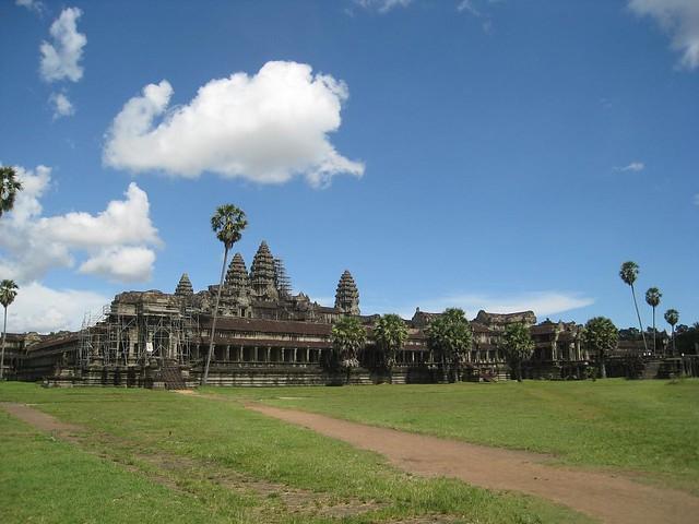 Blue skies over Angkor Wat