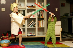 light saber duel   green bear jedi vs. yoda    MG 0942