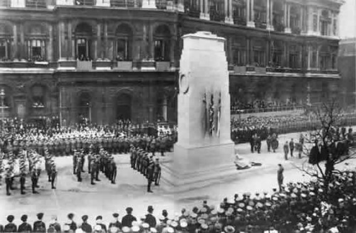 Unveiling of the Cenotaph in Whitehall