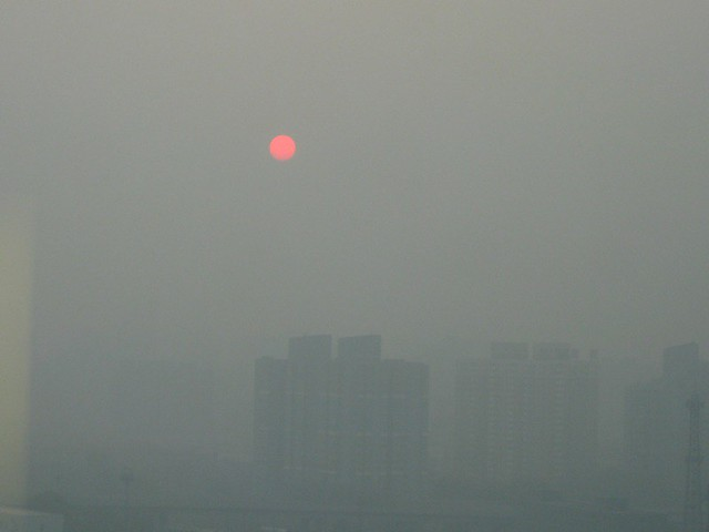 Sunrise through Beijing Smog