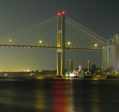 Talmadge Memorial Bridge, Savannah, GA - HDR