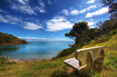ocean sea newzealand beach water island day clear auckland nz creativecommons topf100 hdr waiheke photocontesttnc09