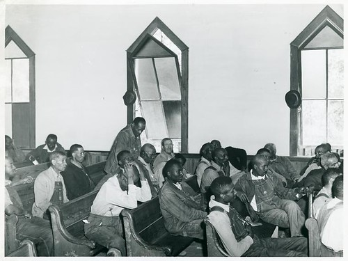At a meeting of Negro Farm Security Administration borrowers...