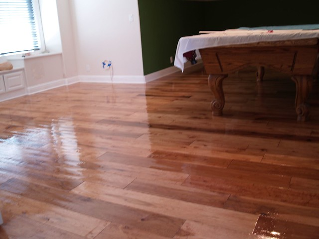 Stained And Finished Scraped Hickory Flooring Flickr