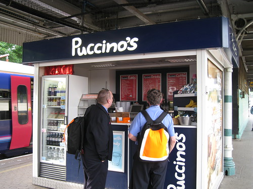 Redhill Station - Cafe Puccino's on platform