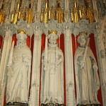 York Minster Interior Kings Screen Wall Relief Henry II to John Lackland