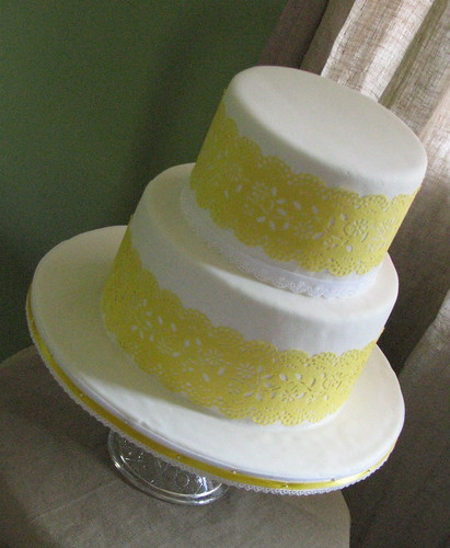 Paper Lace Wedding Cake