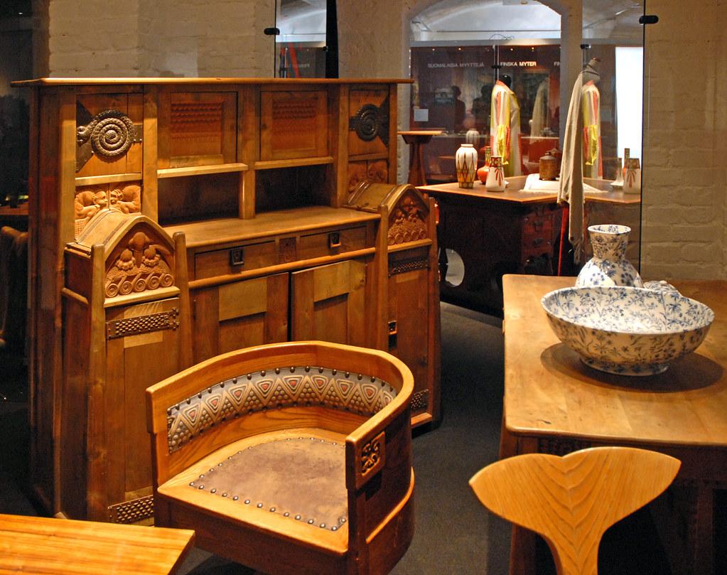 mobilier art nouveau finlandais mus e du design helsinki flickr photo sharing. Black Bedroom Furniture Sets. Home Design Ideas