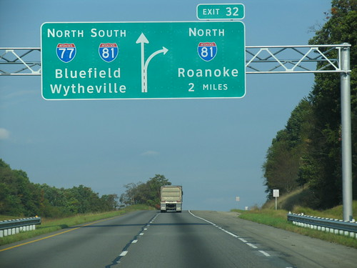 2008 fall virginia signs i77 i81 interstate77 interstate81 500views favorites