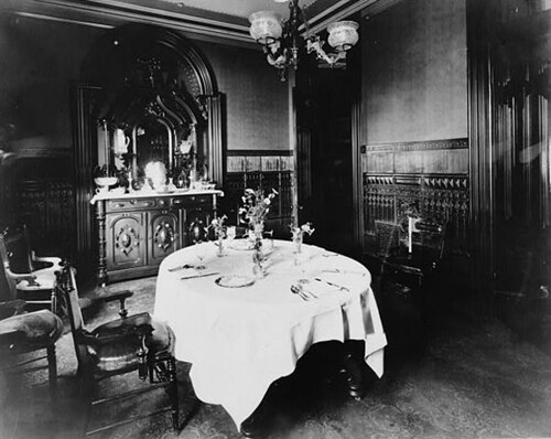 Two 1880s dining rooms a gallery on flickr for Black n white dining rooms
