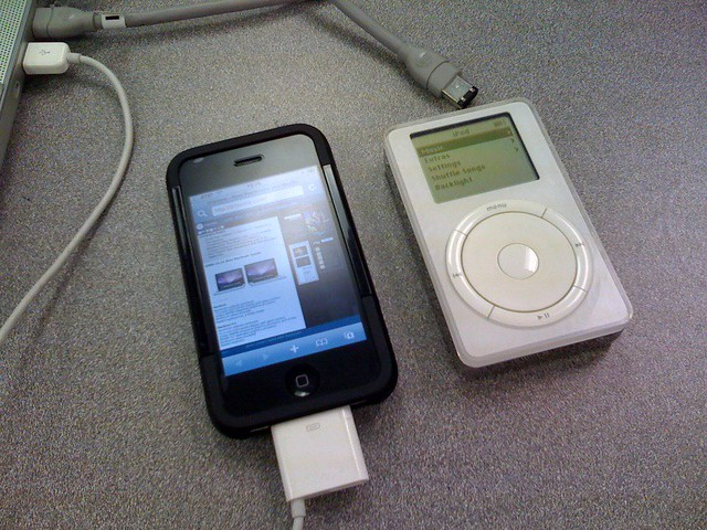 iPod 1st Gen, and iPhone 3G