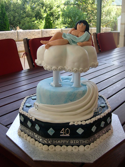 Mossy S Masterpiece Greek God Toga Party 40th Birthday Cak