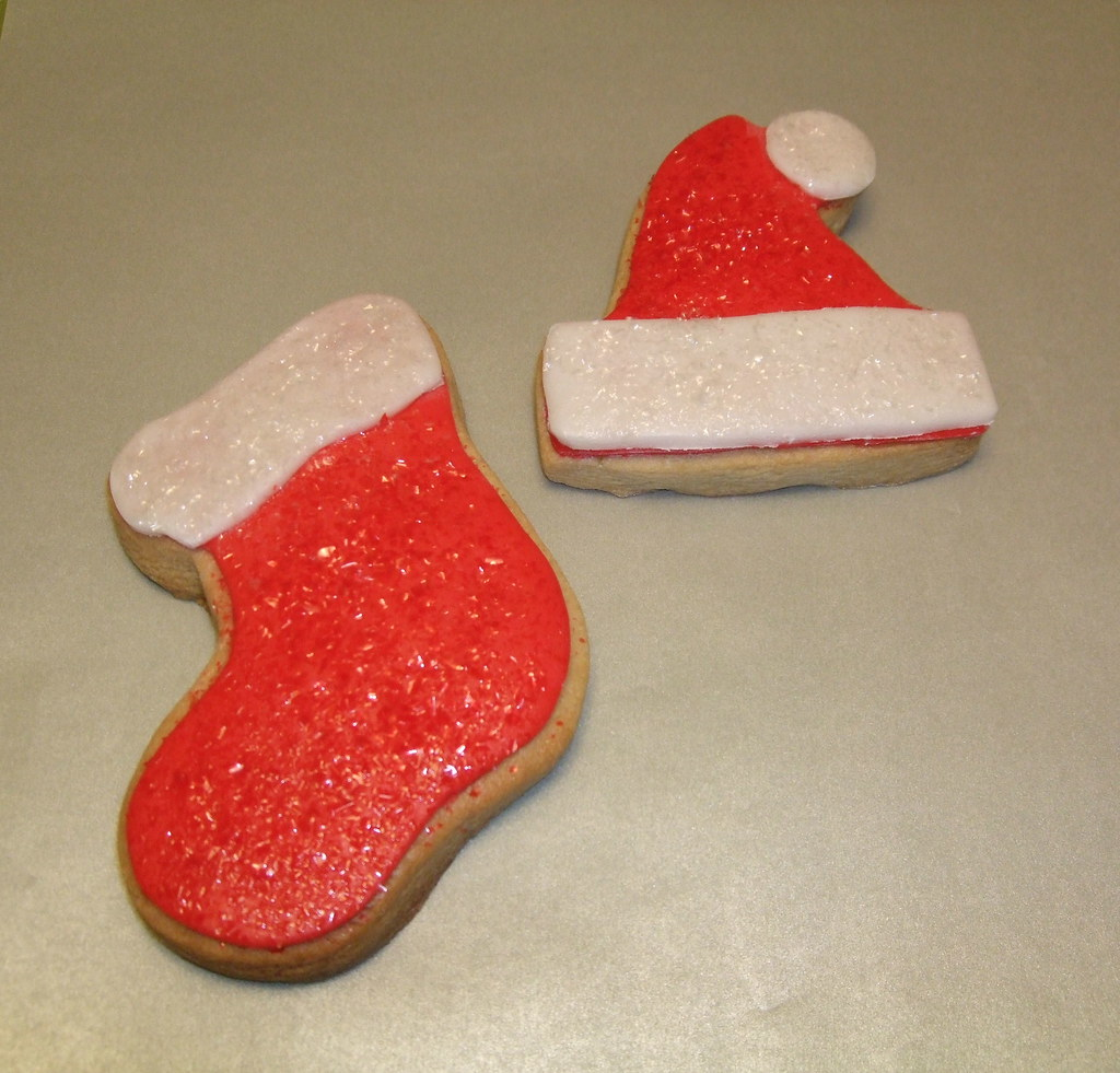 Santa Hat And Stocking Cookies Sugar Cookie With Marshmall Flickr