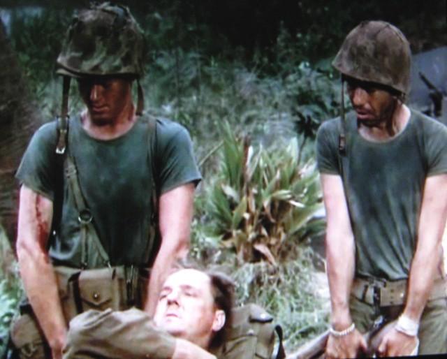 Martin Milner, Jack Webb, Karl Malden (wounded)