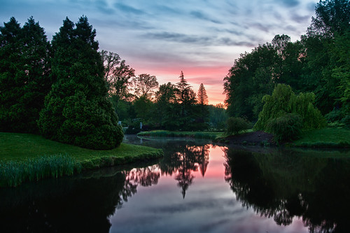 morning sky color reflection water colors sunrise dawn still pond maryland silence hdr brooksidegardens brookside