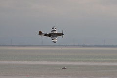 P51 Mustang low fly-by