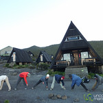 Morning Exercise at Horombo Huts - Mt. Kilmanjaro, Tanzania