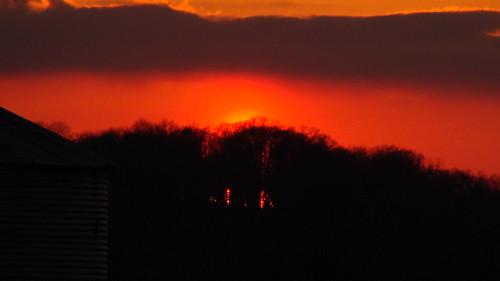 sunset orange beautiful yellow farm indiana