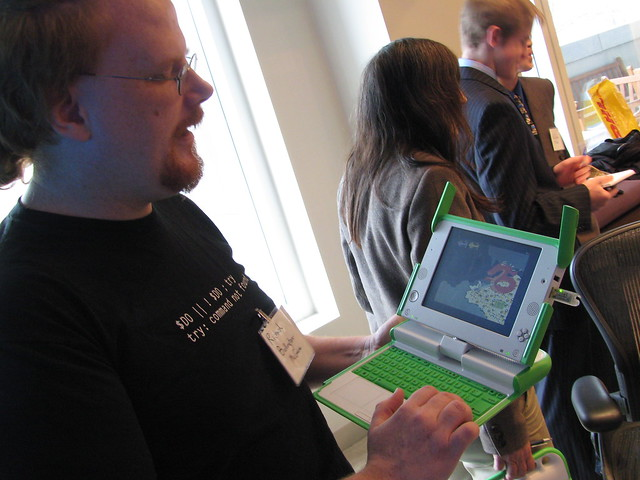 Richard shows off his student animations in Scratch