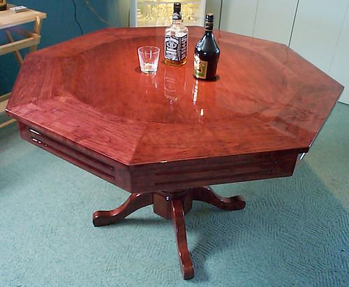 campagn 39 art b nisterie sur mesure table de poker r versible en cerisier massif. Black Bedroom Furniture Sets. Home Design Ideas
