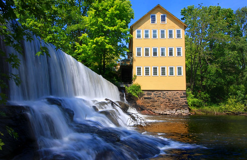 longexposure river dam massachusetts hatfield oldmill millriver