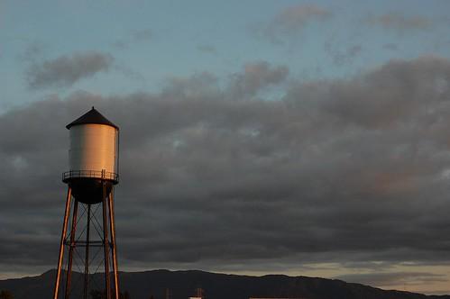 sunset sky sun clouds nikon watertower d40 nikond40 gogbuehi