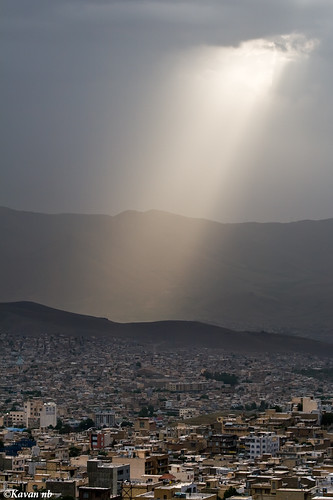 lighting city morning light cloud mountain sunshine canon aperture iran iranian sunray kurdistan sanandaj kavan kordestan 400d 70200lf4is